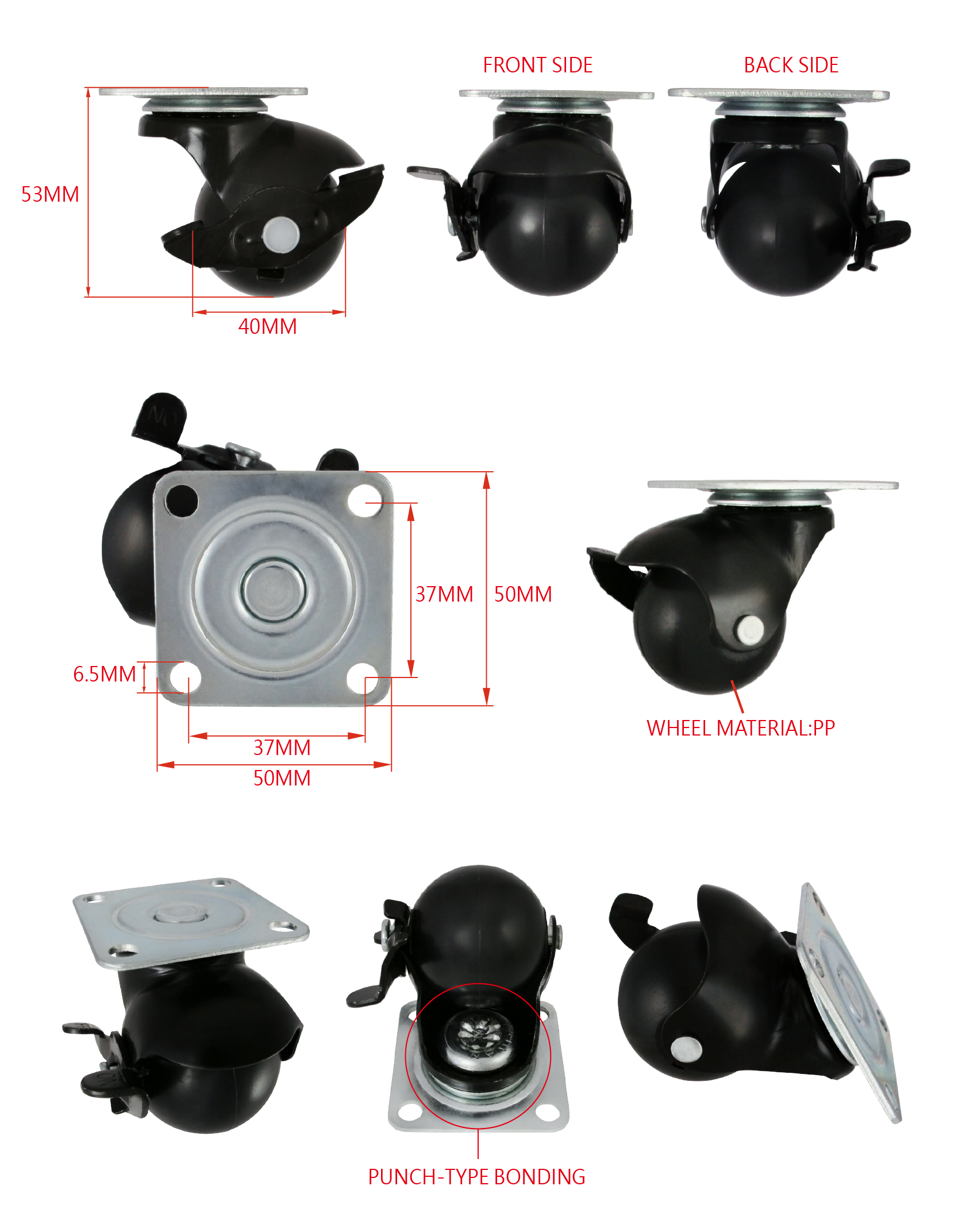 CCE 1.5 Ball Caster With Brake For Baby Furniture Specification.png