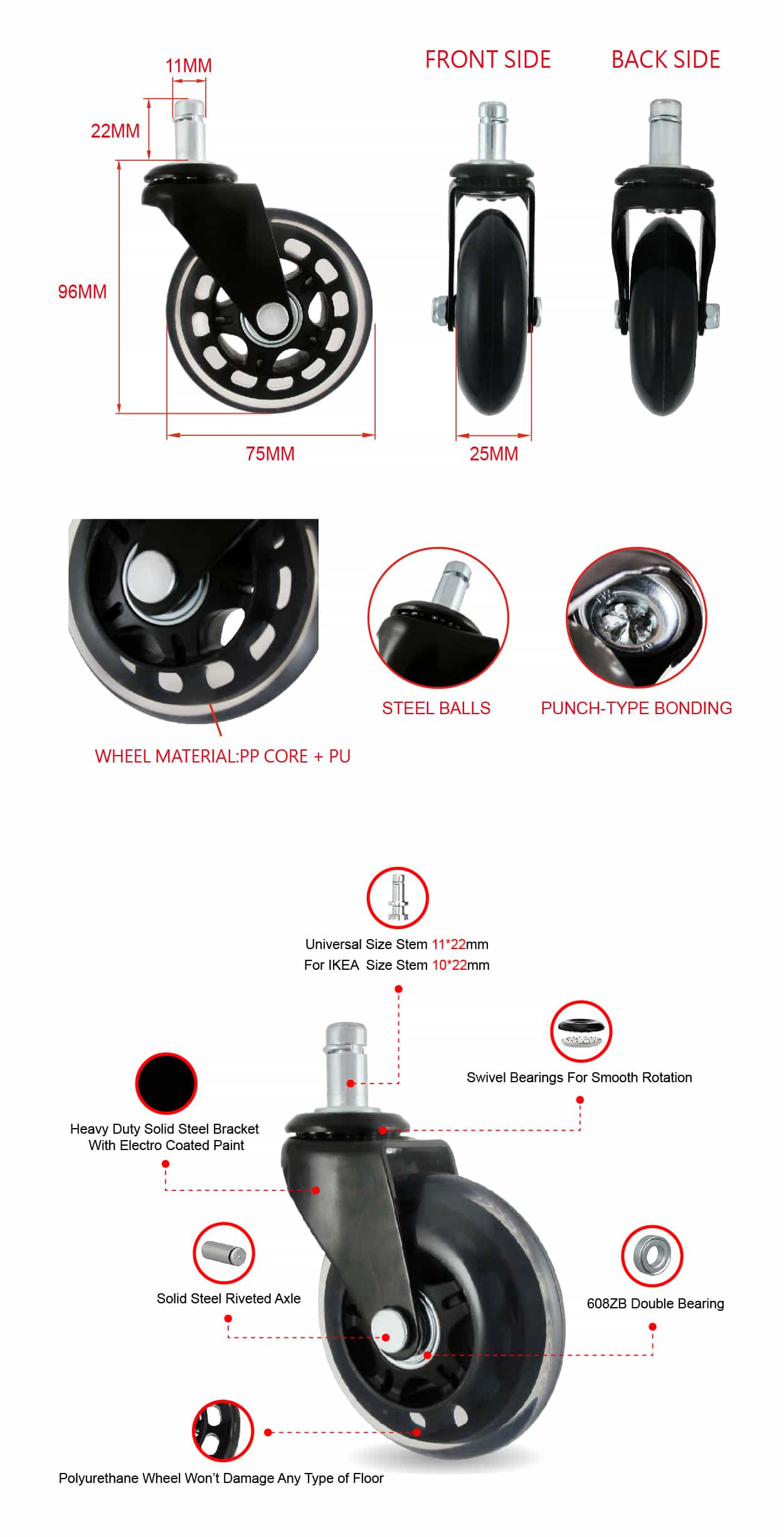 CCE 3 Rollerblade Office Chair Caster Wheels Specification.jpg