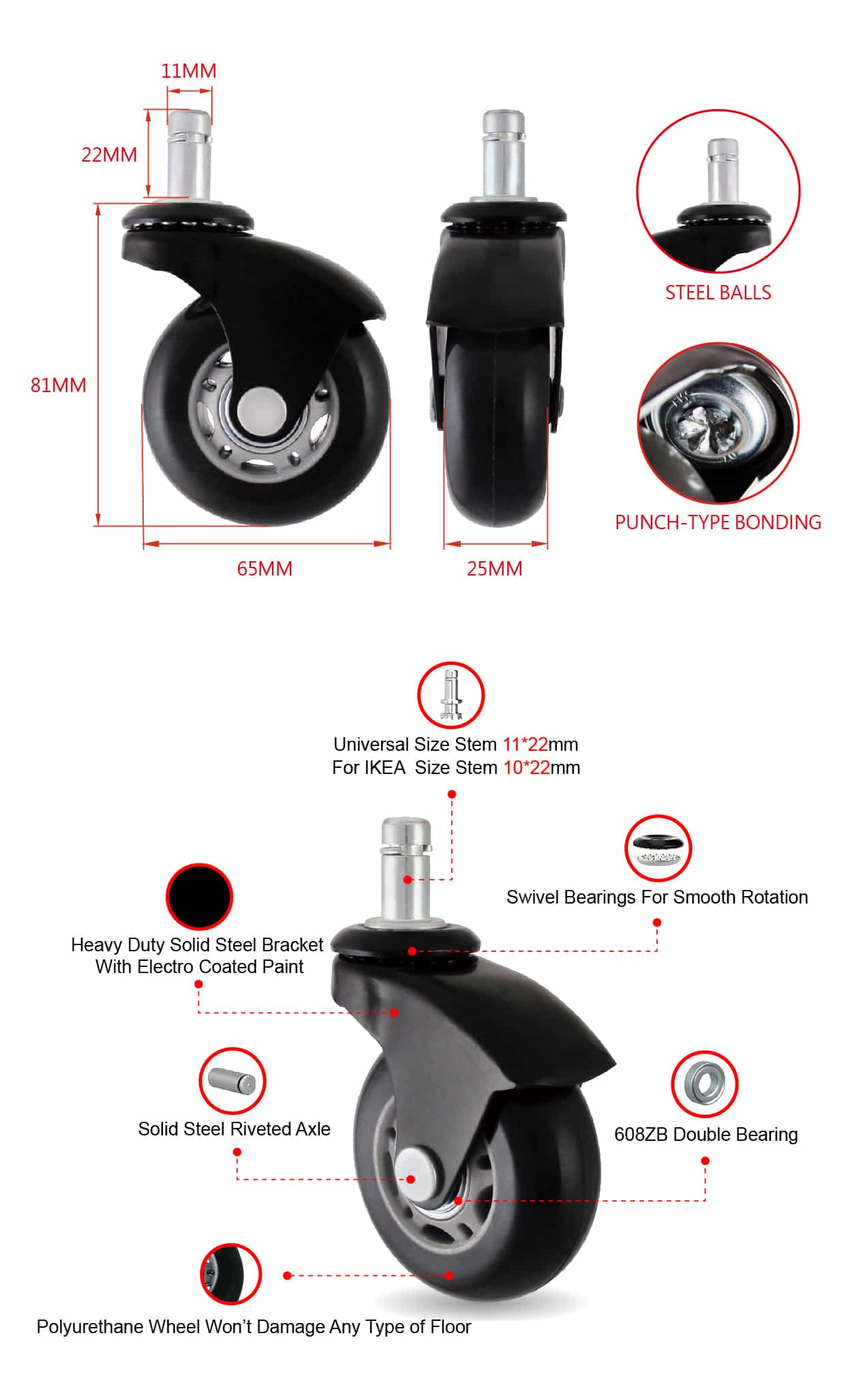 CCE 2 .5 Chair DIY Polyurethane Table Caster Wheel Angle Design Specification.jpg