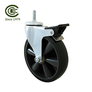 5 Inch Industrial Bearing Brake TPR Caster Wheel.jpg